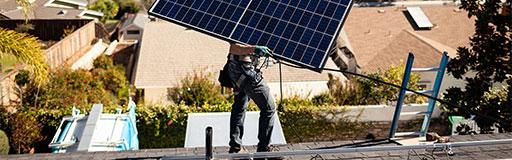 Installing solar panels in Saskatoon